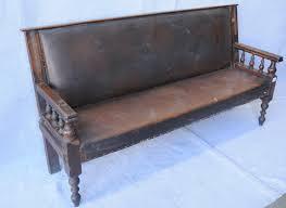 a mid 19th century walnut waiting room bench settles hall seats