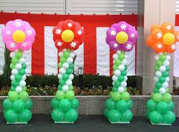 flower decorations balloon columns decoration flower artsyballoons day event tierra