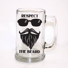 s gift for him respect the beard mug men s gift custom glass
