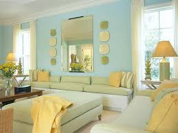 chic blue and yellow living room yellow sofa design decor photos