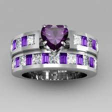 amethyst engagement ring sets jewels fashion ring set 2015 white gold fashion ring set