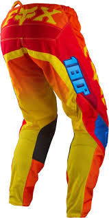 baby motocross gear 2015 fox 180 motocross pants trousers imperial red yellow mx gear