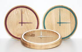 madera oak clock by otono design