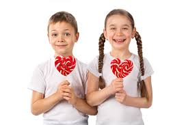 s day lollipops kids with candy lollipops heart isolated on white s
