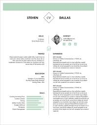 Example One Page Resume One Page Resume Template Free Resume Template And Professional