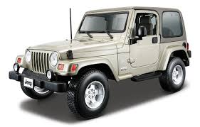 old jeep wrangler buy bburago 1 18 jeep wrangler sahara light green online at low