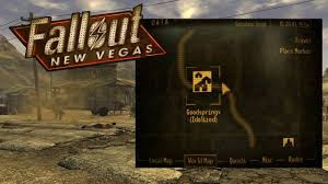 Fallout New Vegas Full Map by Fallout New Vegas How To Get Idolized By Goodsprings Youtube