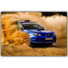 subaru hatchback custom rally rally subaru sti car poster custom home decoration fashion silk