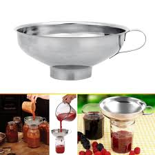 stainless steel wide mouth canning funnel hopper filter kitchen