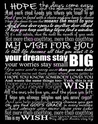end of the year song for student gifts rascal flatts my wish