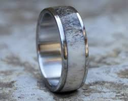 antler wedding ring deer antler ring etsy