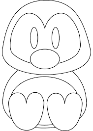 baby enguin coloring pages kids