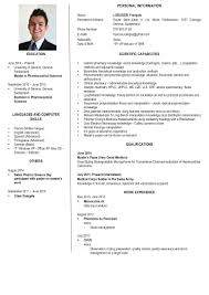 Clinical Pharmacist Resume Loeliger Francois Scientific Cv English
