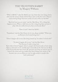 wedding quotes literature best 25 the velveteen rabbit ideas on quotes about