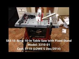 Skil Table Saw Assembly Of A Skil Table Saw 3310 10in 15amps Step By Step Youtube