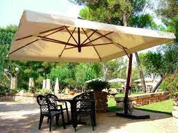 Rectangular Patio Umbrella With Solar Lights by Large Patio Umbrella With Lights Roselawnlutheran