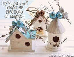 diy embellished dollar bird house ornaments craft o maniac