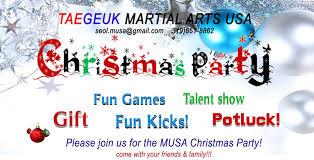 taegeuk musa taekwondo christmas party 2016 taegeuk martial arts