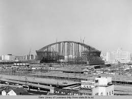 mercedes dome orleans superdome construction just beginning 1971 opening to the