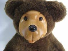 Wooden Faced Teddy Bears Hand Signed 1995 Robert Raikes Bears Wood Face Cameo Pink Teddy