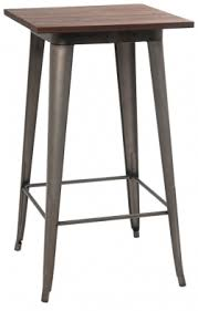 bar height table industrial series bar height table with metal legs and wood top