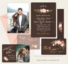lds wedding invitations rustic wedding invitation set jeneze designs