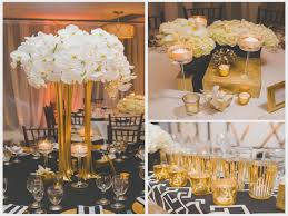 black and gold table centerpieces wedding ideas magazine black