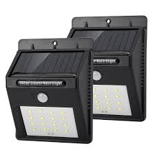 solar bright lights outdoor solar lights outdoor 2 pack motion sensor wall light bright wireless