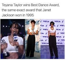 Teyana Taylor Meme - dopl3r com memes teyana taylor wins best dance award the same
