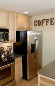 Coffee Decorations Pictures Of Kitchens Traditional Light Wood Kitchen Cabinets