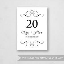 wedding table numbers template table number template printable instant download for word and