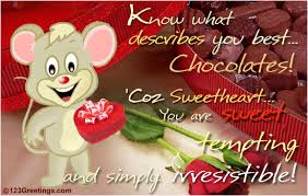 sweet tempting and irresistible free chocolate day ecards 123