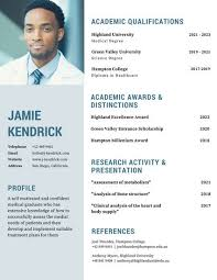 Academic Resume Templates Blue Man Photo Academic Resume Templates By Canva
