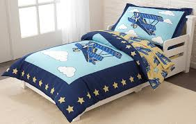 airplane toddler bed amazon com kidkraft toddler airplane bedding set 4 piece toys