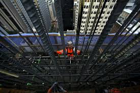 Rebar Worker Among New Wilshire Grand Workers A Hierarchy Forged Of Skill And