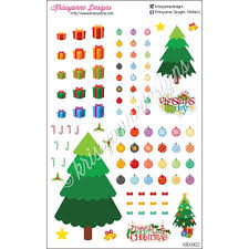 create your own christmas tree sticker set