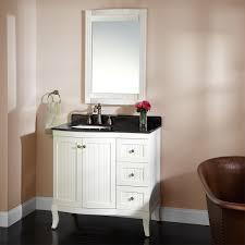 home decor white vanity with black top modern bathroom light