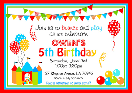bounce house invitations bouncy castle by thepaperkingdom