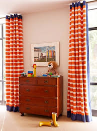 Orange And White Curtains Orange Curtains Traditional Boy S Room Hepfer Designs