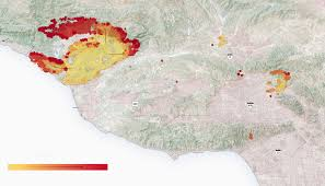 Ojai California Map Where The Fires Are Spreading In Southern California The New
