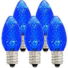 amazon com holiday lighting outlet led c7 blue replacement