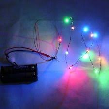 dollhouse working string of 12 v color christmas lights miniatures