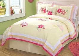Girls Bedding Sets Twin by Pink Yellow Butterfly Bedding Full Queen Quilt Set Butterfly