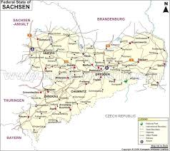 map germay sachsen map map of sachsen germany