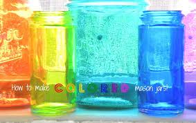 small life slow life how to make diy colored mason jars photos