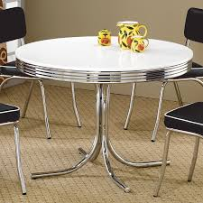 coaster dining room furniture shop coaster fine furniture retro round dining table at lowes com