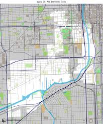 12th ward chicago map map of building projects properties and businesses in 25th ward