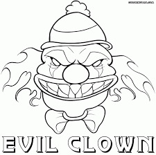 scary clown coloring pages free halloween dezhoufs