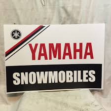 vintage yamaha dealer poster sign ssr gpx sr phazer nitro srx sl