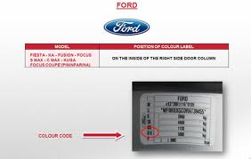 ford focus colour code does anybody paint code ford focus ford owners